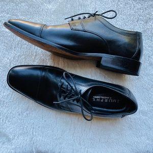 J. Murphy by Johnston & Murphy Black Cap Toe Shoe